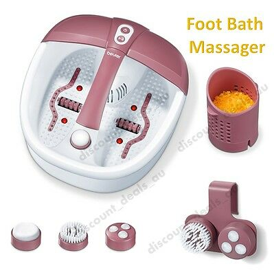 Foot Spa Bath Vibration Massager Heat Bubble Magnets Aromatherapy Pedicure Feet