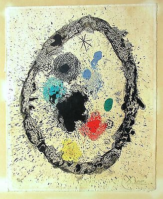 Joan Miro, original lithograph, edition of 45, signed and numbered by the artist