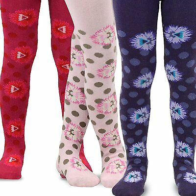 TeeHee Kids Girls Fashion Footless Tights 3 Pair Pack Floral Dot Pretty Cute