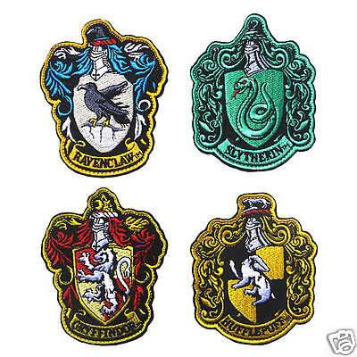 HOGWARTS SCHOOL Patch Embroidered Gryffindor Slytherin Ravenclaw Hufflepuff
