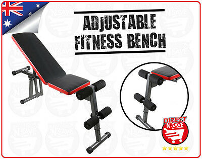 Multi Functional Fitness Bench Adjustable Home Workout Gym Exercise Padded