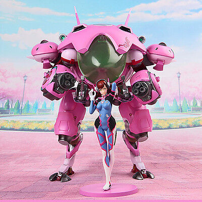 10.5Inch Overwatch DVA D.VA MEKA Mecha Mobile Suit PVC Figure 3D Statue With BOX