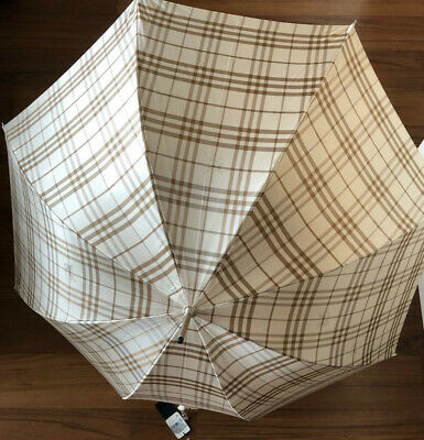 Burberry Japan check Umbrella beige Mens NEW from JAPAN F/S