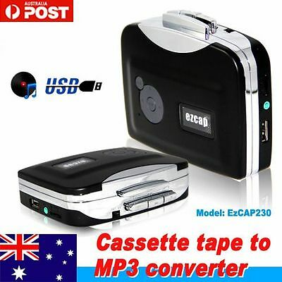 Tape to PC USB Cassette-to-MP3 Converter Capture Audio Music Player handy fr AU