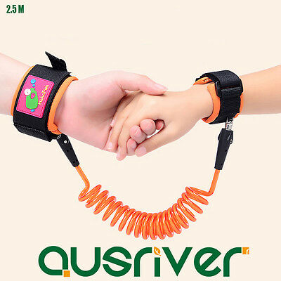 Toddler Baby Safety Harness Strap Rope Walking Anti-lost Wrist Belt Hand 2.5M