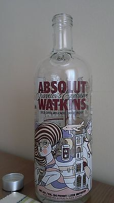Rare Absolut Vodka Empty Liter Watkins Display Bottle -Wolrd Ship