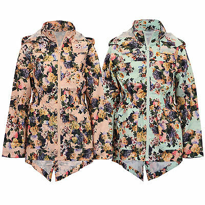 girls kagool jacket Brave Soul kids floral rain cagoule hooded fish tail summer