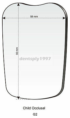 1PC Dental Intraoral Photographic Double Sided Glass Mirror Occlusal Child G2