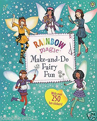 NEW  RAINBOW MAGIC Fairies MAKE AND DO FAIRY FUN over 250 stickers 9781408335451