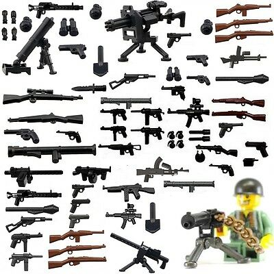 WW1 / WW2 WEAPONS & GUNS SELECTION INC BRICKARMS - Buy 3 Get 3 FREE - FITS LEGO