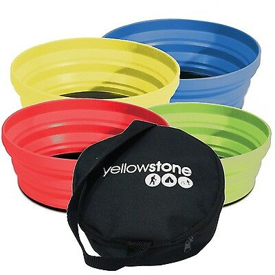 Yellowstone Travel Bowl Set Of 4 Silicon Folding Compact Camping Picnic Festival