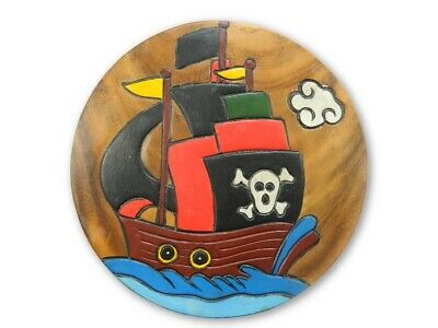 Childs Childrens Wooden Stool - Pirate Ship Step Stool