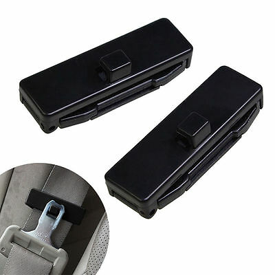 1 Pair Car Auto Seat Belt Adjuster Locking Stopper Safty Aid. Black. UK Supplier