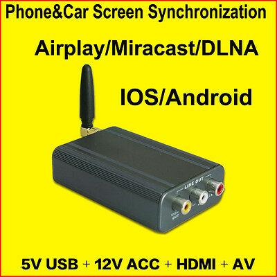 WIFI Mira cast Box Mirror Link box Screen Mirroring Sync Airplay iPhone Android