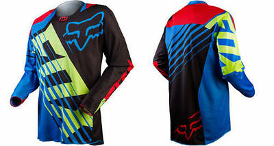Blue Mens Motocross Racing Motorcycle Jersey Dirt Bike Off-road Gear