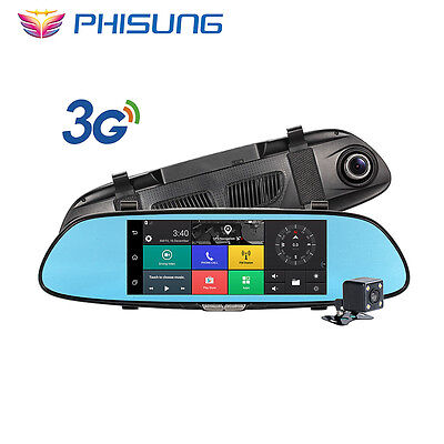 """Phisung 3G Car Camera 7""""Touch Android 5.0 GPS  video recorder Bluetooth WIFI"""
