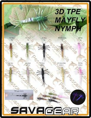 """Savage Gear """"3D TPE MAYFLY NYMPH"""" 5cm 2,5gr artificiale spinning"""