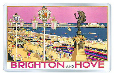 Brighton And Hove Vintage Repro Fridge Magnet Souvenir Iman Nevera