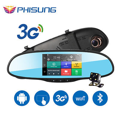 """5.0"""" Touch 3G  Car DVR Android 5.0 GPS  Bluetooth  dash cam rearview, Full HD"""