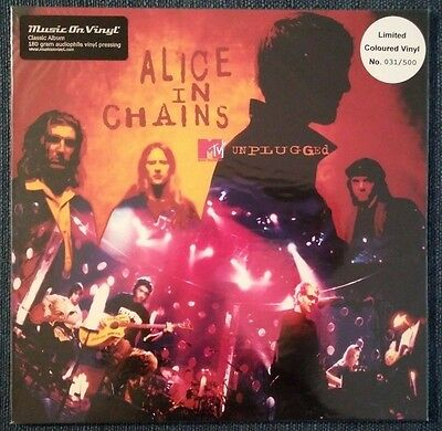 ALICE IN CHAINS – Unplugged – AUDIOPHILE RED 2LP (LTD 500) – NEW & SEALED