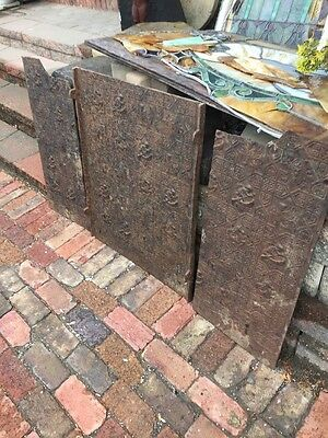 Fb 53 Piece Antique Nautical Cast-Iron Fireback 1880S