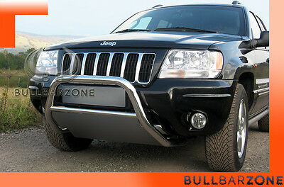 !+! Jeep Gr.cherokee 99-04 Tubo Protezione Medium Bull Bar Inox Stainless Steel