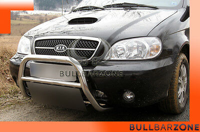 Kia Carnival 2002-2006 Tubo Protezione Medium Bull Bar Inox Stainless Steel