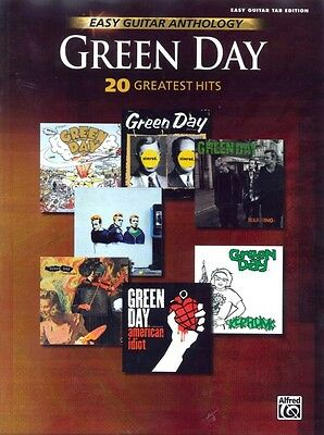 GREEN DAY 20 GREATEST HITS Easy Guitar Anthology