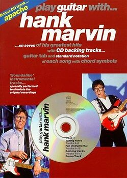 HANK MARVIN PLAY GUITAR WITH Book & CD Tab