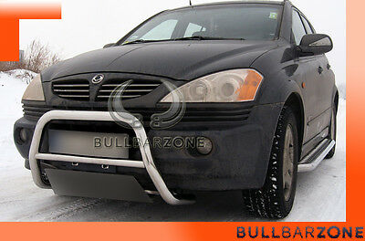 Ssangyong Kyron 2005+ Tubo Protezione Medium Bull Bar Inox Stainless Steel