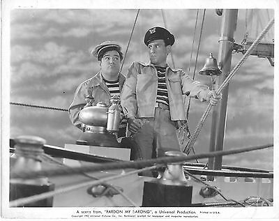 Abbott And Costello/pardon My Sarong/ 8X10 Original Photo Cc20705 5-107
