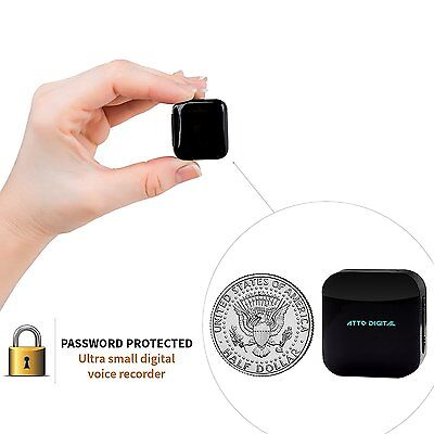Mini Voice Recorder - Voice Activated Recording - 286 Hours Recordings Capacity