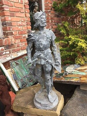 Antique Richard Coeurdelion Statue Conquistador Turn Of The Century 37 H