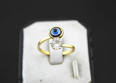 Newest Eye Design Lots 28pcs Stainless steel Big CZ Gold Plated Fashion Rings