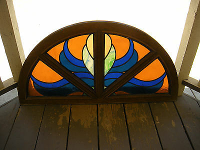 Beautiful stained glass window arched antqiue window