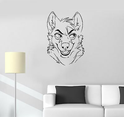 ced165 Full Color Wall decal Sticker animals fox grass bedroom kids nursery