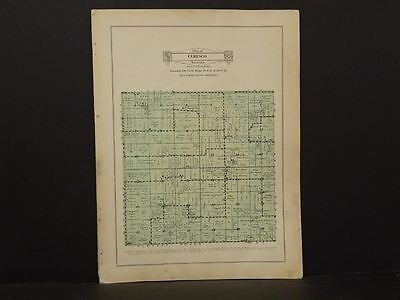 Minnesota Blue Earth County Map Ceresco  Township 1929 W7#53