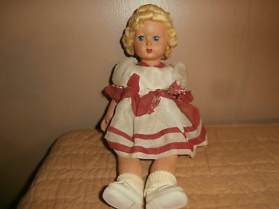 """Antique Celluloid doll 13 """" inches Glass Eyes Original Outfit"""