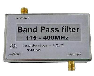 Band-pass filter 225 - 400MHz; 225- 380MHz; 115 - 400MHz; 240 - 290MHz with SMA