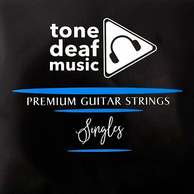 5x TOP E ELECTRIC GUITAR STRINGS 009 gauge single individual six seven string