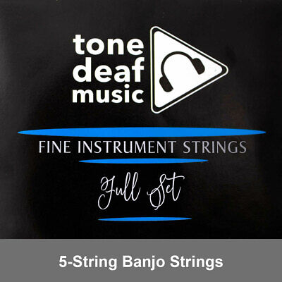 SET OF 5 STRING BANJO STRINGS Nickel plated gauge 010, 012, 016, 023, 010 string