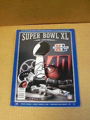 Hines Ward, Pgh Steelers, Signed Super Bowl XL Program, Clean
