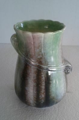 "Lovely ""SYLVAC"" Art Deco Drip Glaze Vase 682 in pastel shades pink/green/blac"
