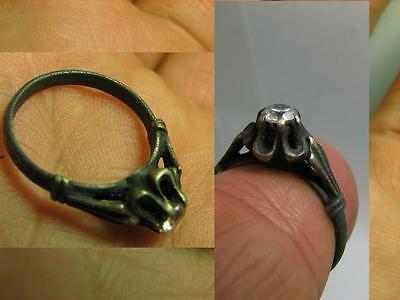 Very Nice  Vintage Sterling Silver  Ring With Stone  #5596 A