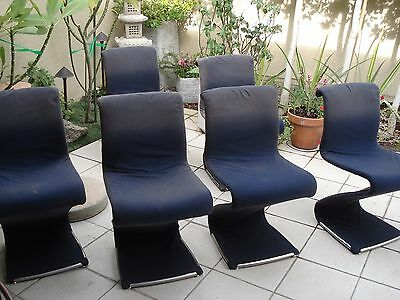 Midcentury Modern Z Dining Chairs Set of 6  RARE