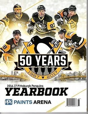 2016 2017 Pittsburgh Penguins Yearbook Program Stanley Cup Champions Lemieux