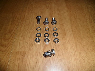 Vespa P Px T5 Stainless Steel 18% Chrome Number Plate Fixing Kit Bolt