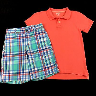 Boys Clothes Size 6 Short Sleeve Shirt Shorts Spring Summer Outfit Mixed Lot Set