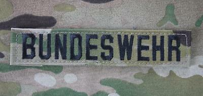 BUNDESWEHR BW GERMAN ARMY Multicam Klett Tape Uniform patch Aufnäher