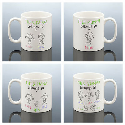 THIS DADDY GRANDAD MUMMY BELONGS TO MUG Father's Day CUP Fathers Day Gift Dad